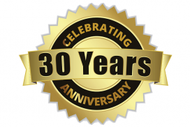 30 Years Celebrating 100% Customer Satisfaction
